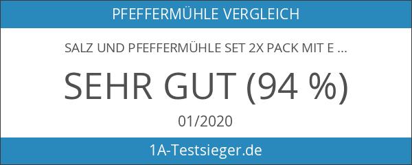 Salz und Pfeffermühle Set 2x Pack mit einstellbarer Feinheit
