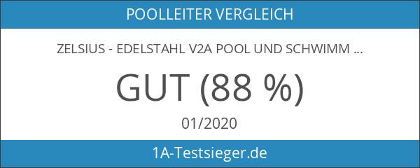 Zelsius - Edelstahl V2A Pool und Schwimmbad Leiter für Swimming
