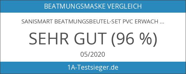 SANISMART Beatmungsbeutel-Set PVC Erwachsene Maske 3