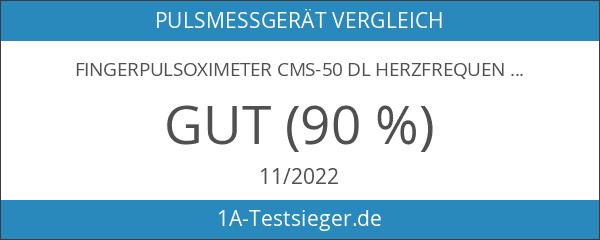 Fingerpulsoximeter CMS-50 DL Herzfrequenzmesser SPO2 Sauerstoffsättigung Messung mit LED Display