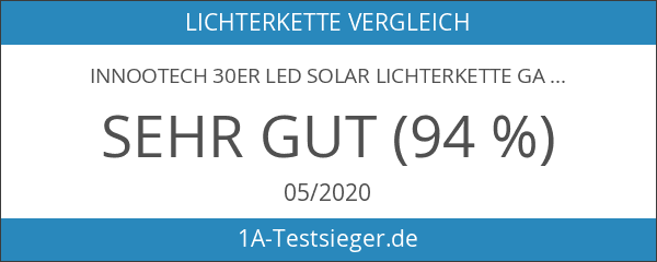 InnooTech 30er LED Solar Lichterkette Garten Globe Außen Warmweiß 6