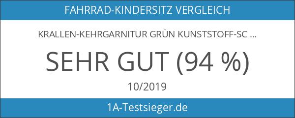 Krallen-Kehrgarnitur GRÜN Kunststoff-Schaufel und Handfeger
