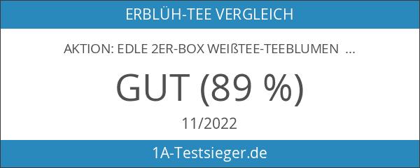 """AKTION: Edle 2er-Box Weißtee-Teeblumen mit je """"2 Blüten"""" DUOS in"""
