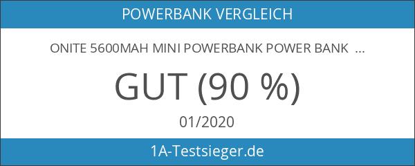 Onite 5600mAh mini Powerbank power bank Externer Akku Batterie Zusatzakku