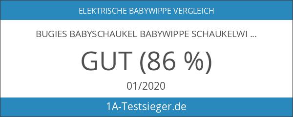 Bugies Babyschaukel Babywippe Schaukelwippe drehbarer Sitz Timer elektronisches Mobile mit