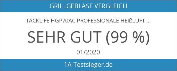 Tacklife HGP70AC Professionale Heißluftpistole mit 3 Temperaturregelung 230V