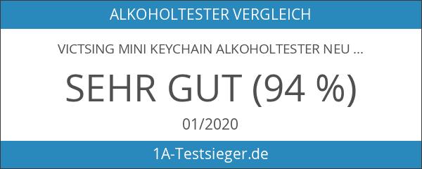 VicTsing mini Keychain Alkoholtester Neu LCD Display Wiederverwendbare Polizei Breathalyzer