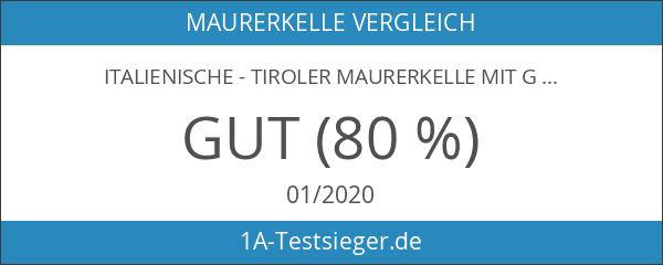 Italienische - Tiroler Maurerkelle mit G-Hals 160x115x90mm - Edelstahlblatt -