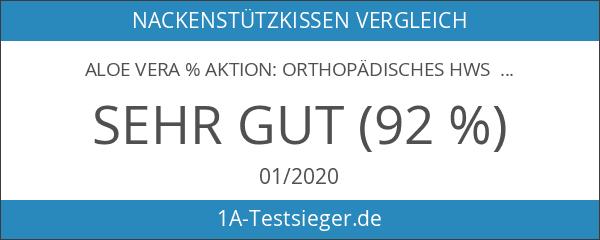 ALOE VERA % AKTION: Orthopädisches HWS Nackenstützkissen 40 x 80