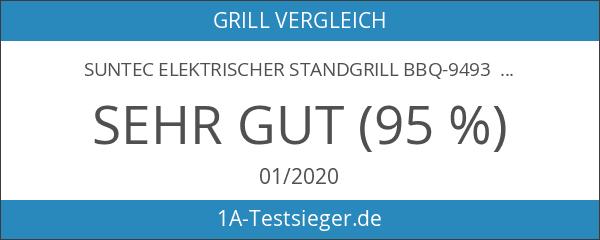 SUNTEC elektrischer Standgrill BBQ-9493 [abnehmbare Haube mit Temperaturanzeige