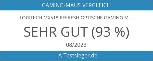 Logitech MX518 Refresh optische Gaming Maus schnurgebunden schwarz