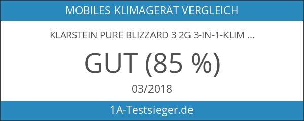 Klarstein Pure Blizzard 3 2G 3-in-1-Klimaanlage 7000 BTU schwarz