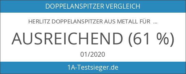 Herlitz Doppelanspitzer aus Metall für 2 Stiftdurchmesser