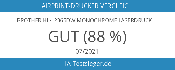 Brother HL-L2365DW Monochrome Laserdrucker schwarz