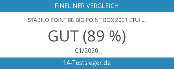 STABILO point 88 Big point Box 20er Etui - Fineliner