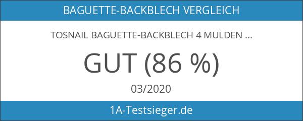 Tosnail Baguette-Backblech 4 Mulden