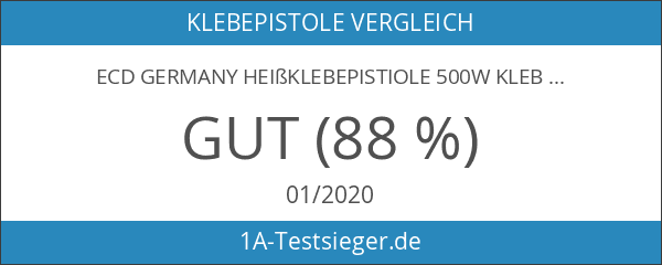 ECD Germany Heißklebepistiole 500W Klebepistole Heißkleber Starter inkl. 6 Klebesticks