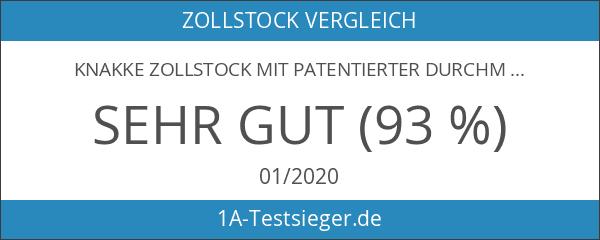 KNAKKE Zollstock mit patentierter Durchmesser - Zollstock in Premiumqualität