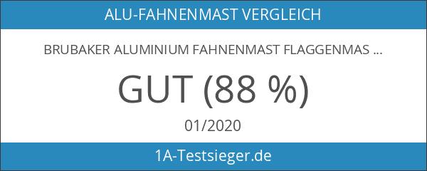 BRUBAKER Aluminium Fahnenmast Flaggenmast 4 m inklusive Deutschland Flagge