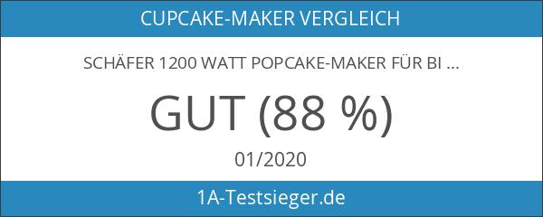 Schäfer 1200 Watt Popcake-Maker für bis zu 12 Pop-Cakes -