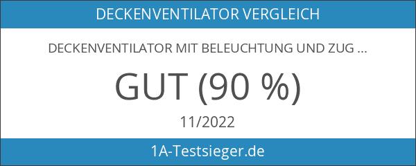 Deckenventilator mit Beleuchtung und Zugschalter Ventilator Globo UGO 0307