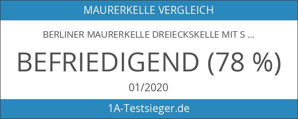 Berliner Maurerkelle Dreieckskelle mit S-Hals - 200x190mm - Stahlblatt -