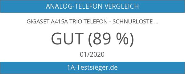 Gigaset A415A Trio Dect-Schnurlostelefon mit Anrufbeantworter schwarz