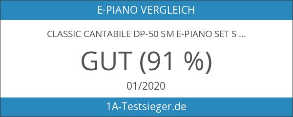 Classic Cantabile DP-50 SM E-Piano SET schwarz matt