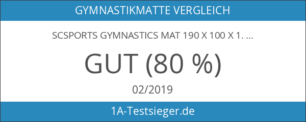 ScSPORTS Gymnastics Mat 190x 100x 1.5cm
