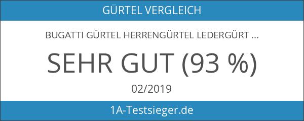 bugatti Gürtel Herrengürtel Ledergürtel Automatikschließe Cognac 3156