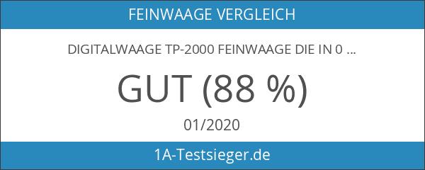 Digitalwaage TP-2000 Feinwaage die in 0