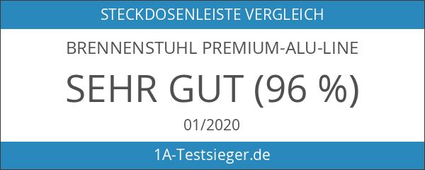 Brennenstuhl Premium-Alu-Line Steckdosenleiste 6-fach schwarz mit Schalter