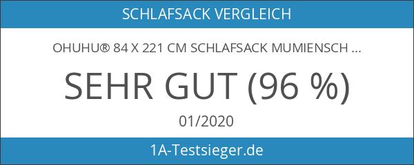 Ohuhu® 84 x 221 cm Schlafsack Mumienschlafsäcke 0 Grad mit