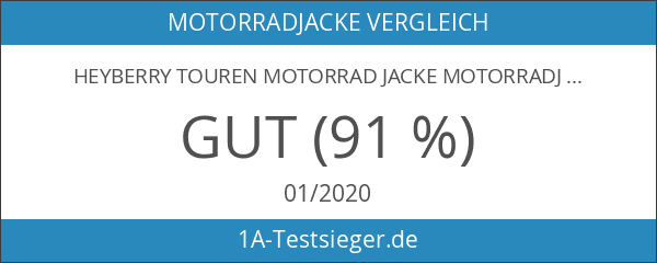 Heyberry Touren Motorrad Jacke Motorradjacke Textil schwarz grau Gr.XL