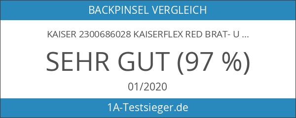 Kaiser 2300686028 Kaiserflex Red Brat- und Backpinsel schmal