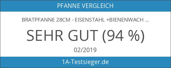 Bratpfanne 28cm - Eisenstahl +Bienenwachs - de Buyer Mineral B