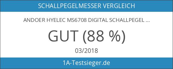 Andoer HYELEC MS6708 digital Schallpegelmesser dB-Messgerät Mess 30 dB bis