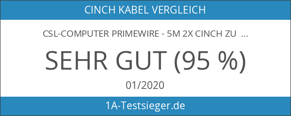 Primewire - 5m 2x Cinch zu 2x Cinch Kabel