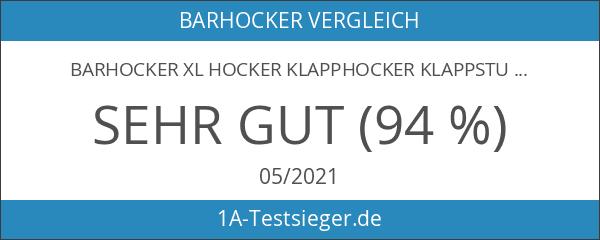 Barhocker XL Hocker Klapphocker Klappstuhl Stuhl Barstuhl Faltbar Metall Weiß