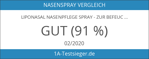LipoNasal Nasenpflege Spray - zur Befeuchtung und Pflege bei trockener