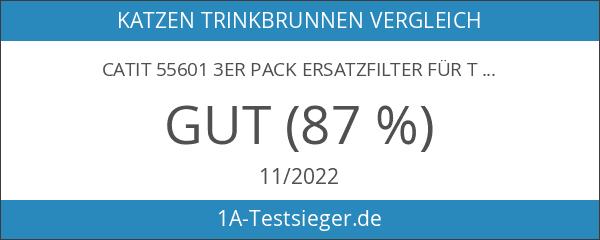 Catit 55601 3er Pack Ersatzfilter für Trinkbrunnen 50053 und 55600