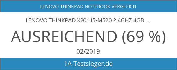 Lenovo ThinkPad x201 i5-M520 2.4GHz 4GB Ram 250GB HDD 30.7cm