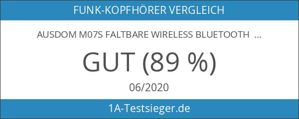 AUSDOM M07S Faltbare Wireless Bluetooth Kopfhörer BT 3.0+EDR On-Ear Funkkopfhörer