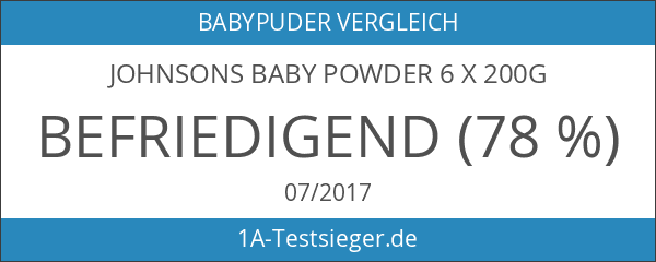 Johnsons Baby Powder 6 x 200g