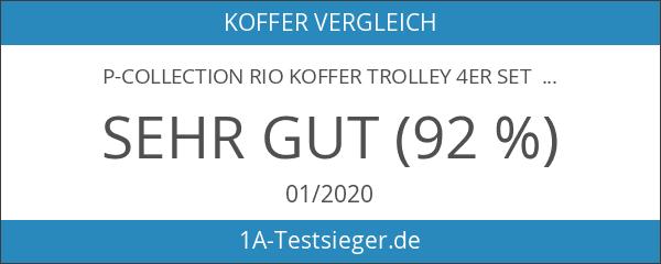 P-Collection Rio Koffer Trolley 4er Set PINK Handgepäck Grösse M