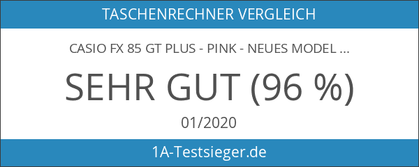 Casio FX 85 GT Plus - Pink - NEUES MODELL