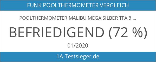 Poolthermometer Malibu MEGA silber TFA 30.3053.54.MEGA Funkthermometer incl. 2 Displays