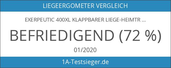 Exerpeutic 400XL Klappbarer Liege-Heimtrainer