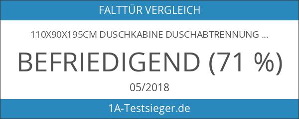 110x90x195cm Duschkabine Duschabtrennung Eckeinstieg Drehfalttür Duschtür Falttür