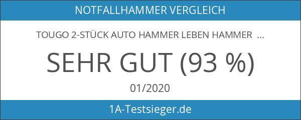 Tougo 2-Stück Auto Hammer Leben Hammer Fenster Hammer mit Gurtschneider